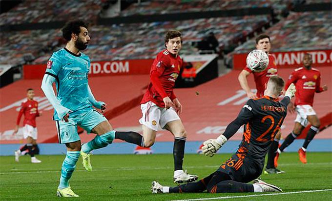 Salah mở tỉ số trận MU vs Liverpool