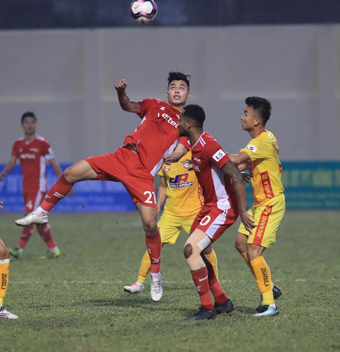 Viettel bế tắc trong việc tìm kiếm được bàn thắng vào lưới Thanh Hoá