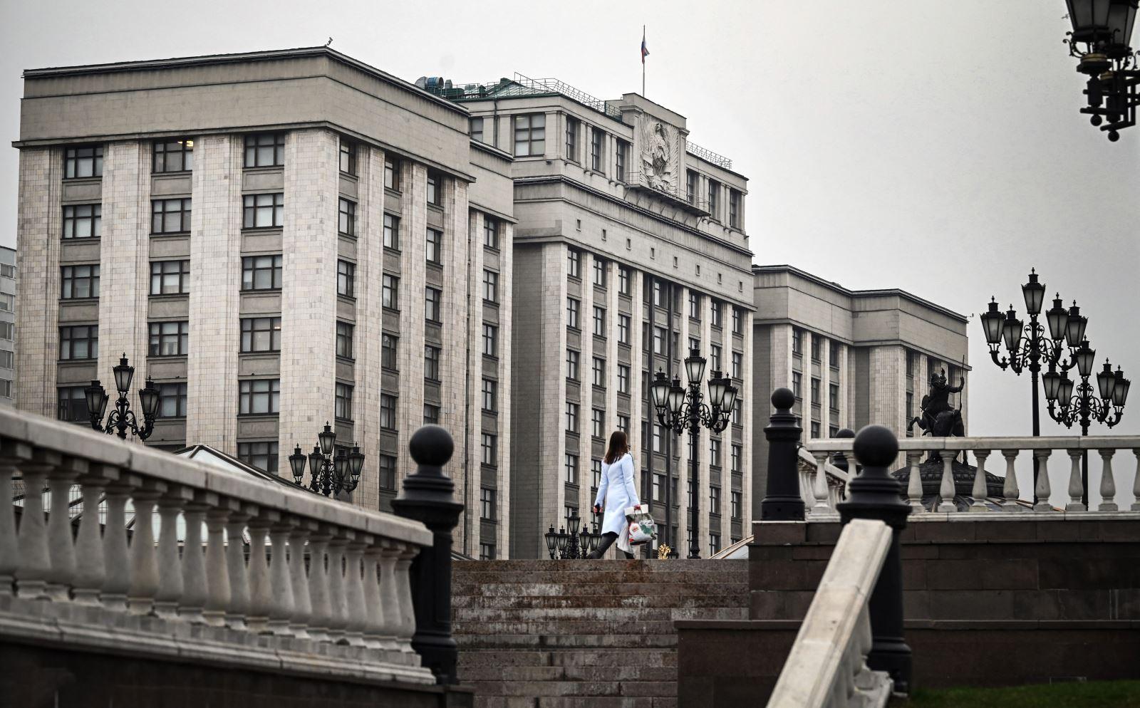 Tòa nhà Hạ viện Nga tại thủ đô Moskva. Ảnh: AFP/TTXVN