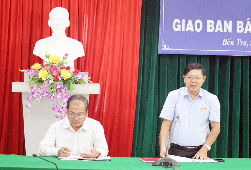 Phó trưởng Ban Tuyên giáo Tỉnh ủy Nguyễn Hữu Thọ kết luận hội nghị.
