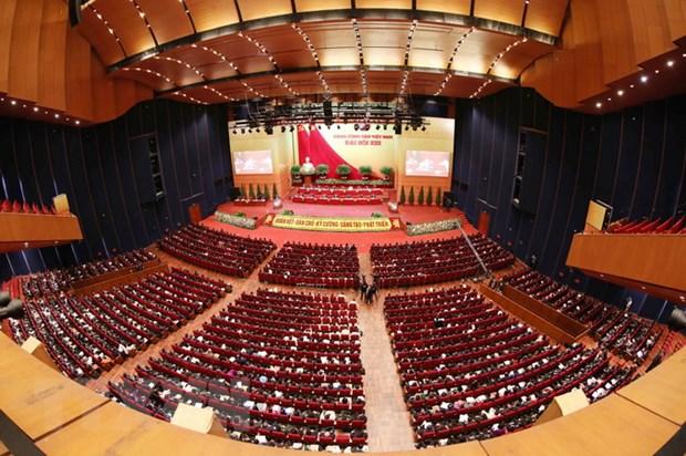 Toàn cảnh phiên thảo luận các văn kiện Đại hội XIII của Đảng tại hội trường Trung tâm Hội nghị Quốc gia, sáng 28-1. Ảnh: TTXVN
