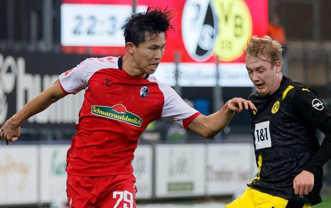 Jeong Woo-Yeong ghi dấu ấn giúp Freiburg đánh bại Dortmund