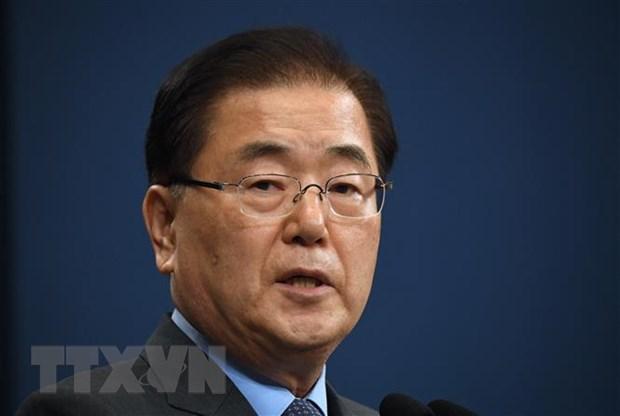 Tân Ngoại trưởng Hàn Quốc Chung Eui-yong. (Nguồn: AFP/TTXVN)