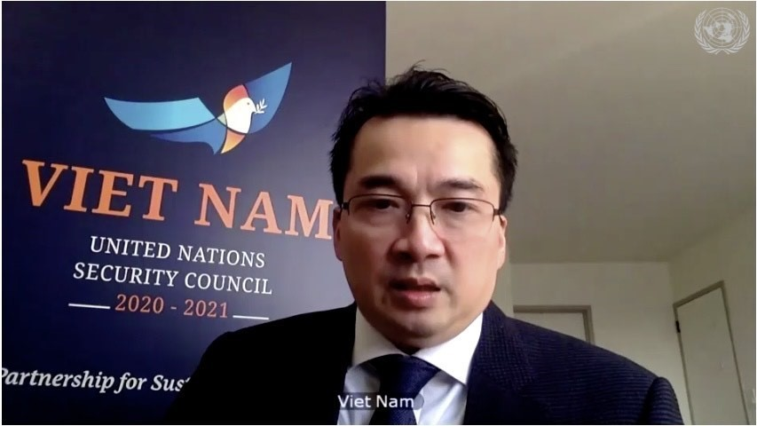 Đại sứ Phạm Hải Anh, Đại biện lâm thời của Việt Nam tại LHQ. Ảnh: Khắc Hiếu/TTXVN