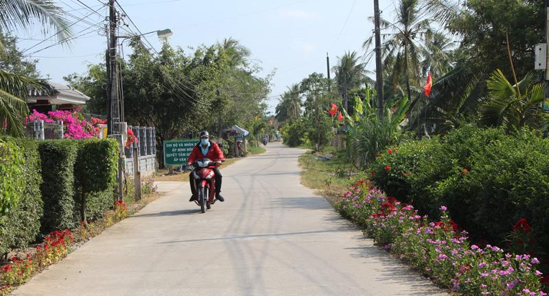 Đường nông thôn xã Bình Thành.
