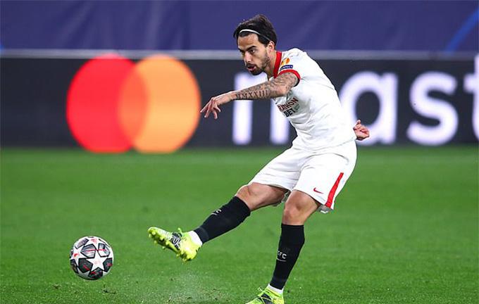 Suso mở tỷ số trận Sevilla vs Dortmund