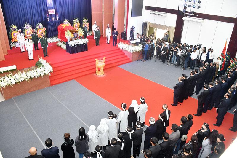 Chuẩn bị sẵn sàng cho lễ truy điệu nguyên Phó Thủ tướng Chính phủ Trương Vĩnh Trọng.