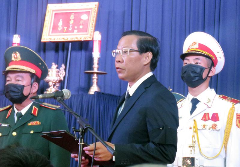 Đồng chí Phan Văn Mãi - Ủy viên Trung ương Đảng, Bí thư Tỉnh ủy. Ảnh: Trần Quốc
