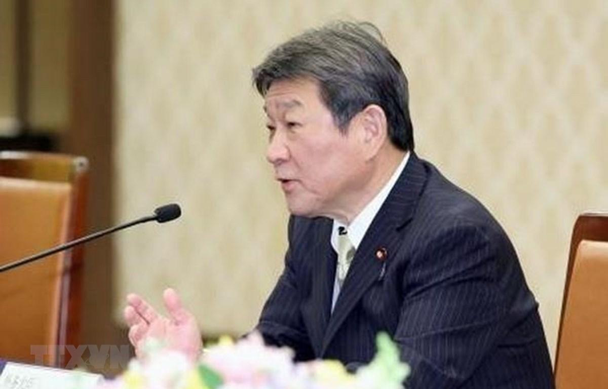 Ngoại trưởng Nhật Bản Toshimitsu Motegi. Ảnh: Kyodo/TTXVN