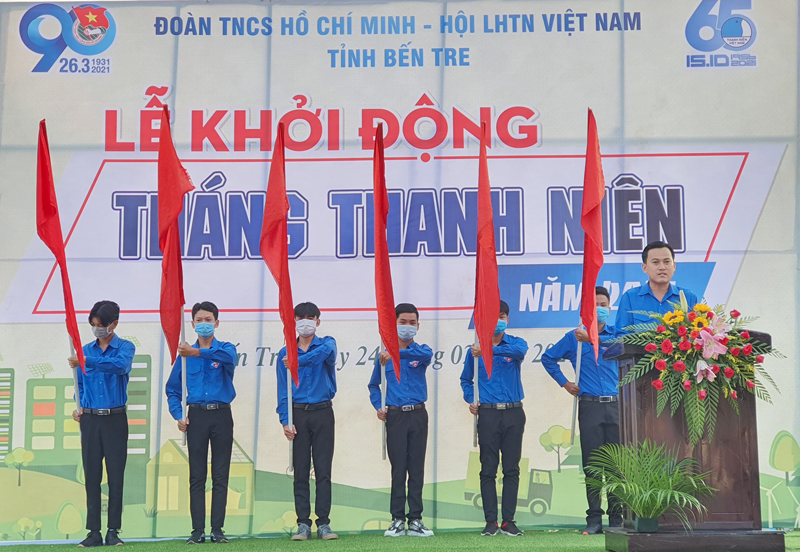 Bí thư Tỉnh đoàn Hà Quốc Cường phát biểu khởi động Tháng Thanh niên 2021