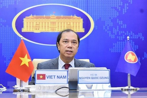 Thứ trưởng Bộ Ngoại giao Nguyễn Quốc Dũng. (Ảnh: TTXVN phát)