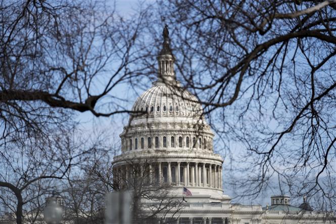 Tòa nhà Quốc hội Mỹ tại Washington, D.C. Ảnh: THX/ TTXVN
