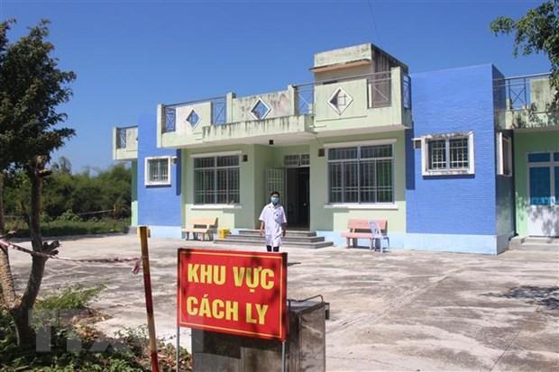 Khu vực nhà công vụ của cán bộ Phòng khám đa khoa khu vực Ninh Sim, thị xã Ninh Hòa, Khánh Hòa được dùng làm khu cách ly bệnh nhân COVID -19. Ảnh: Phan Sáu/TTXVN