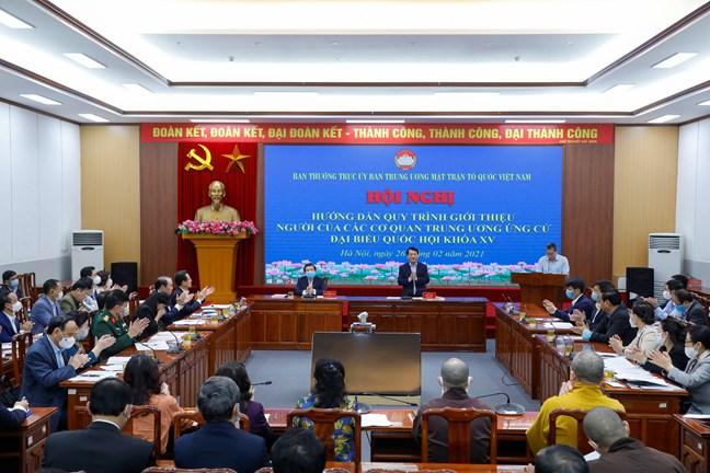 Quang cảnh hội nghị. Ảnh: mattran.org.vn