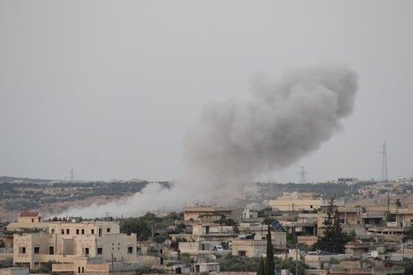 Hình ảnh một vụ không kích ở Syria. Nguồn: AP