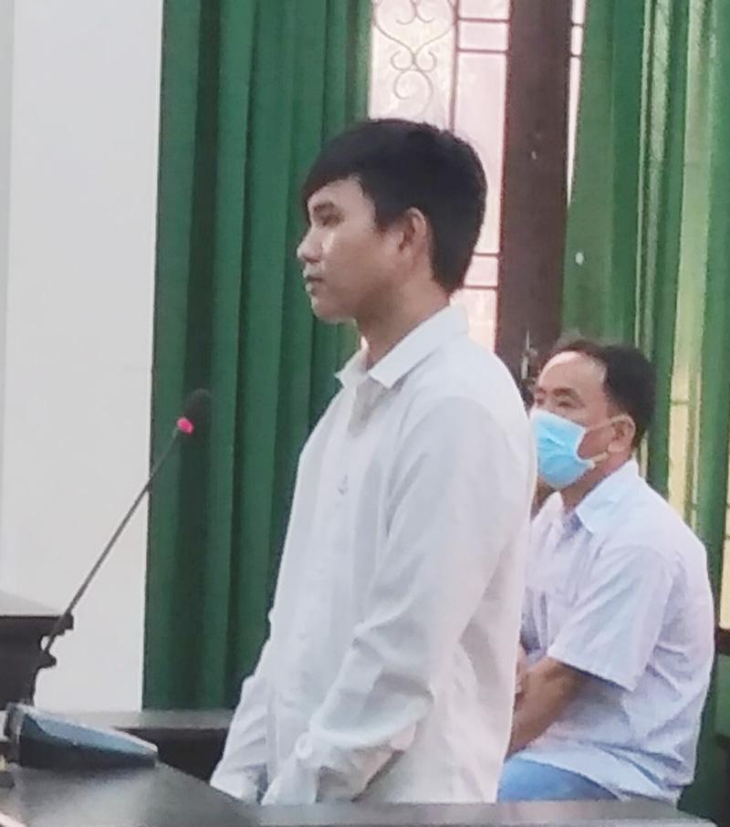 Bị cáo Nhã tại phiên tòa