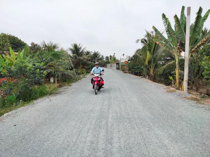 Đường nông thôn ấp Phú Mỹ, xã Phú Túc (Châu Thành).