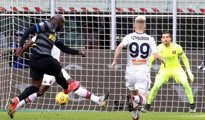 Lukaku mở tỷ số trận Inter vs Genoa