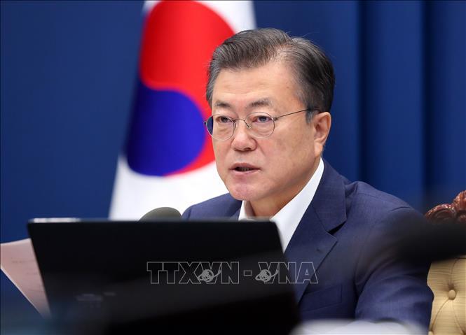 Tổng thống Hàn Quốc Moon Jae-in. Ảnh: Yonhap/TXVN