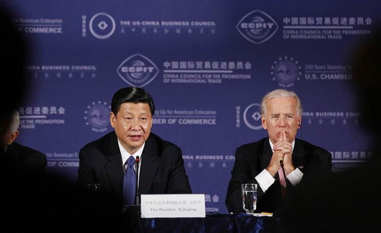 Chủ tịch Trung Quốc Tập Cận Bình và Tổng thống Mỹ Joe Biden trong một sự kiện. Ảnh tư liệu: Reuters