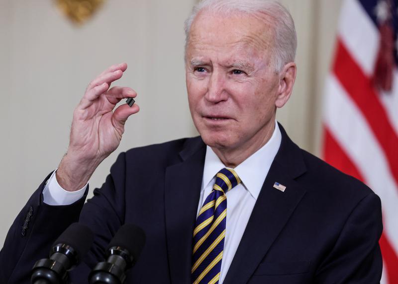 Tổng thống Biden đã nhấn mạnh đến phát triển vi mạch tại Mỹ. Ảnh: Reuters