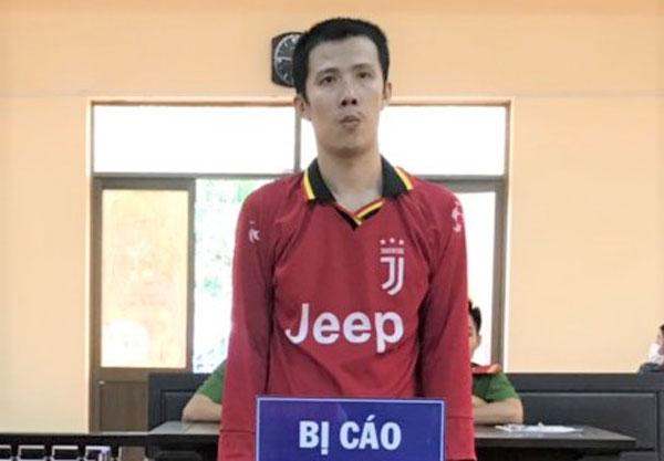 Bị cáo Nguyễn Văn Thái tại phiên tòa sơ thẩm ngày 2-3-2021.