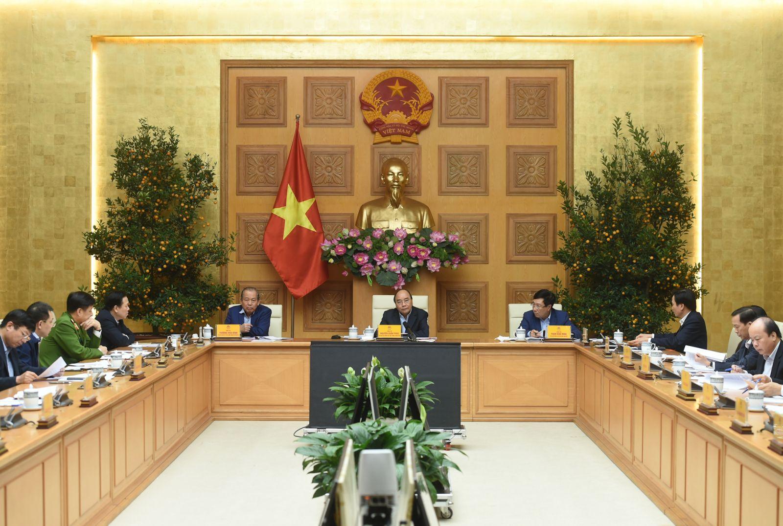 Toàn cảnh cuộc họp Thường trực Chính phủ về các dự án chậm tiến độ, kém hiệu quả của ngành công thương. Ảnh: VGP/Quang Hiếu