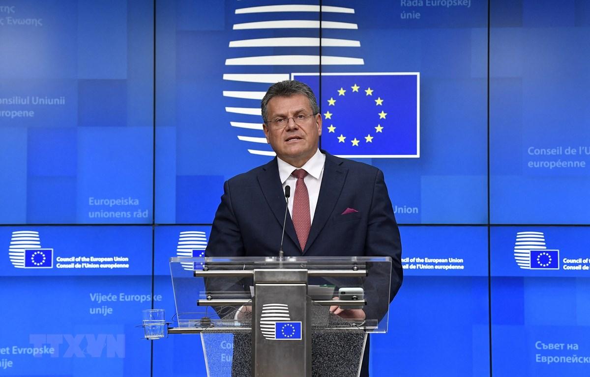 Chủ tịch Ủy ban châu Âu (EC) Maros Sefcovic. (Ảnh: AFP/TTXVN)