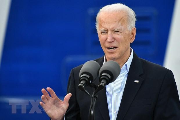 Tổng thống Mỹ Joe Biden phát biểu tại Houston, Texas, ngày 26/2/2021. (Ảnh: AFP/TTXVN)