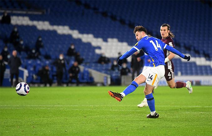 Lallana mở tỷ số trận đấu cho Brighton