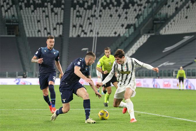 Juventus bị lép vế lúc đầu