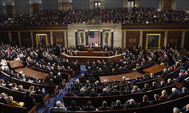 Toàn cảnh một phiên họp Quốc hội Mỹ ở Washington DC. Ảnh: AFP/TTXVN