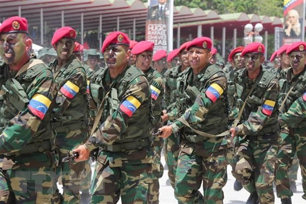 Binh sỹ Venezuela. (Nguồn: AFP/TTXVN)