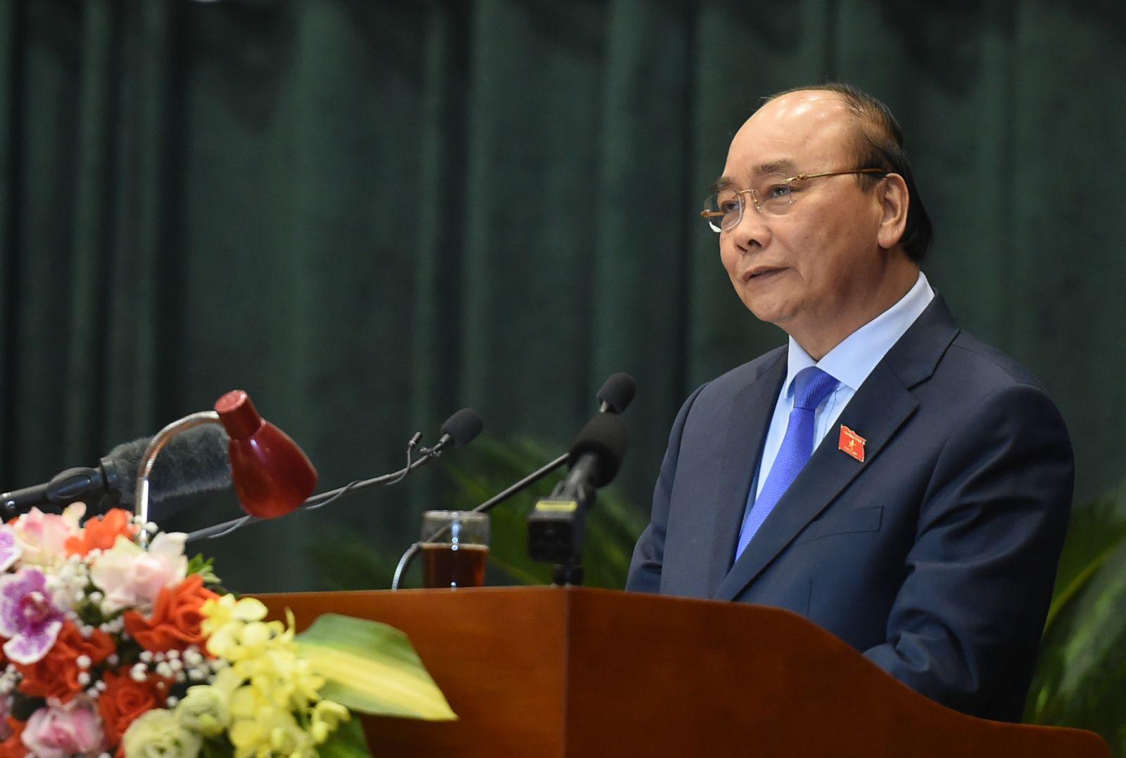 Thủ tướng phát biểu với cử tri Hải Phòng. Ảnh: VGP/Quang Hiếu
