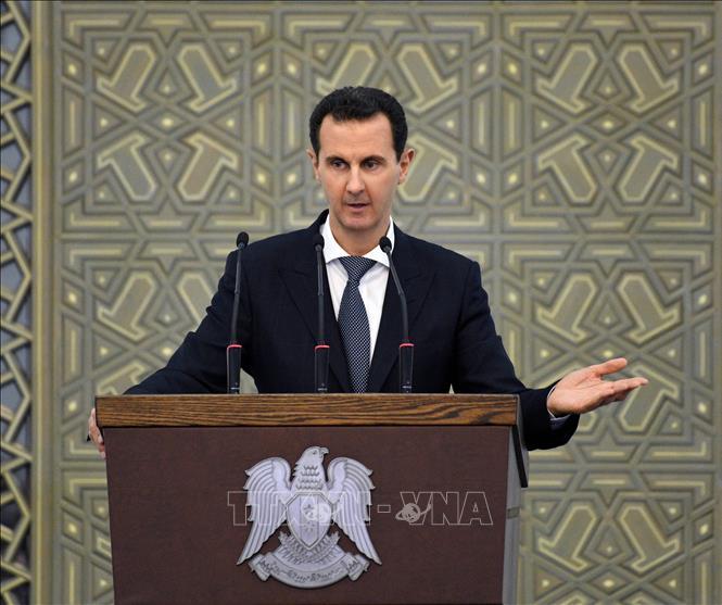 Tổng thống Syria Bashar al-Assad (ảnh) và Phu nhân đã có kết quả dương tính với virus SARS-CoV-2. Ảnh: AFP/TTXVN