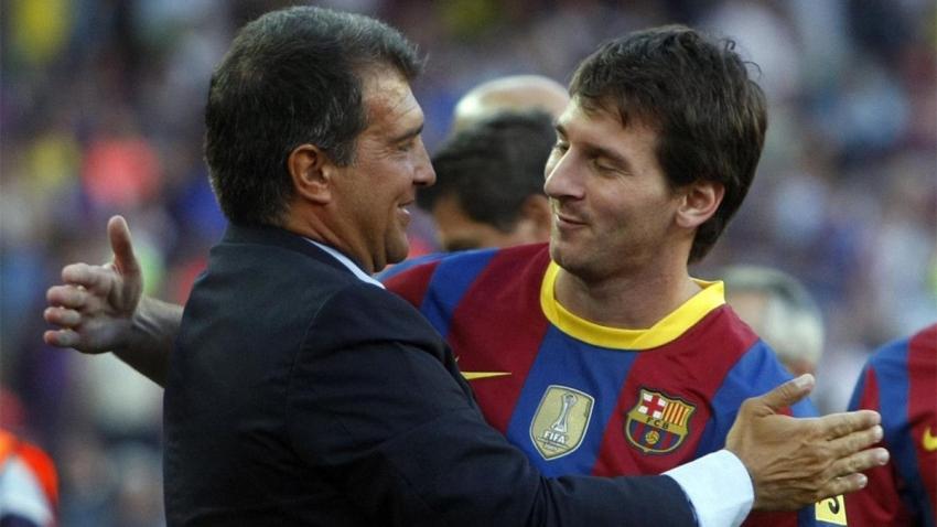 Messi và Laporta có mối quan hệ khá tốt.