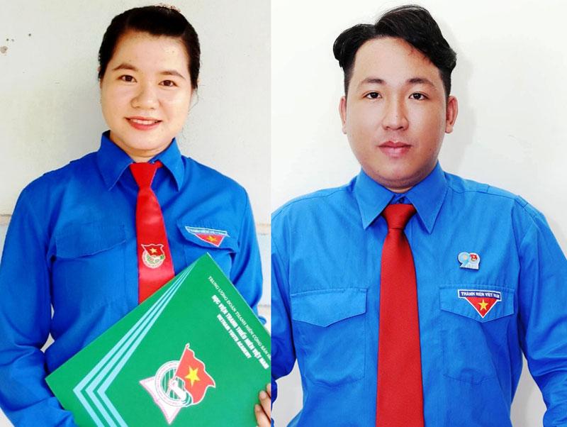 Nguyễn Thị Kim Thoa (bìa trái) Nguyễn Trung Hiếu (bìa phải). Ảnh: Nhân vật cung cấp