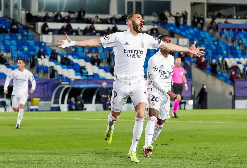 Bàn thắng của Benzema giúp Real chơi dễ dàng hơn. Ảnh: Getty