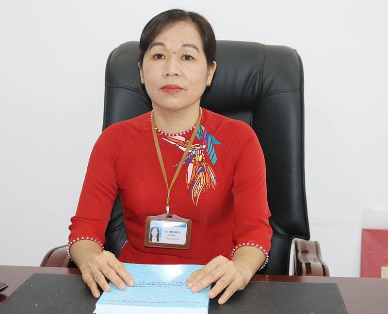 Giám đốc Sở Giáo dục và Đào tạo La Thị Thúy.  Ảnh: PH. Hân