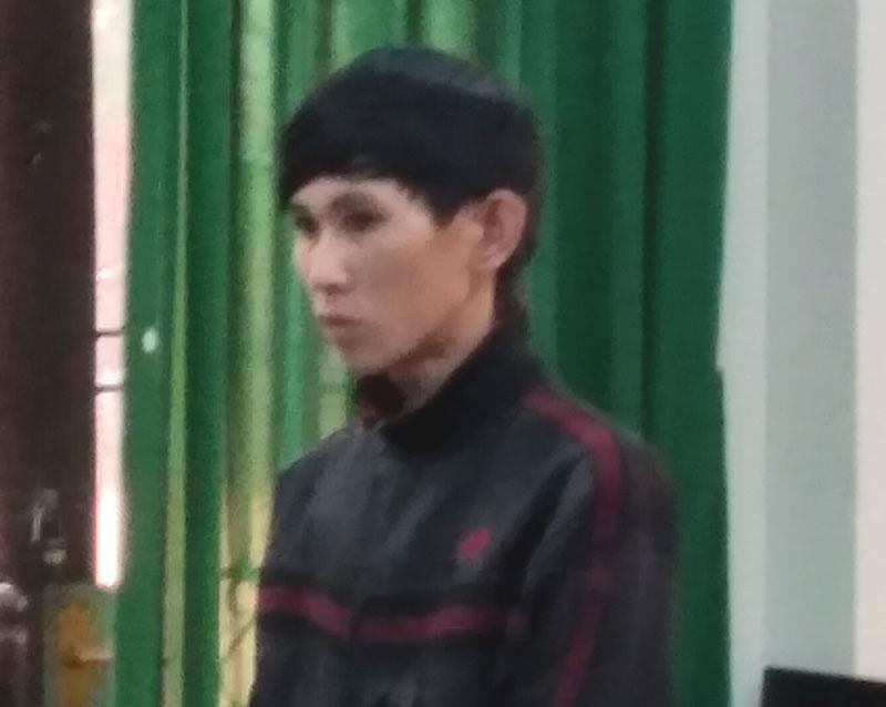 Bị cáo Thắng tại phiên tòa.