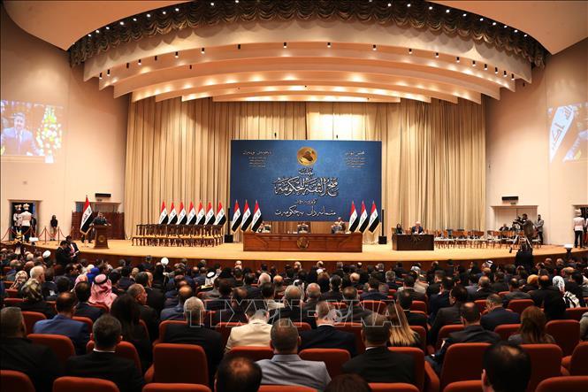 Toàn cảnh một phiên họp của Quốc hội Iraq ở Baghdad. Ảnh: AFP/TTXVN