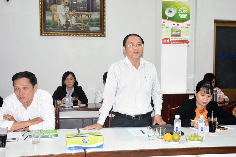 Giám đốc Sở NN &PTNT Bến Tre Đoàn Văn Đảnh mong muốn liên kết hợp tác với TP. Hồ Chí Minh.