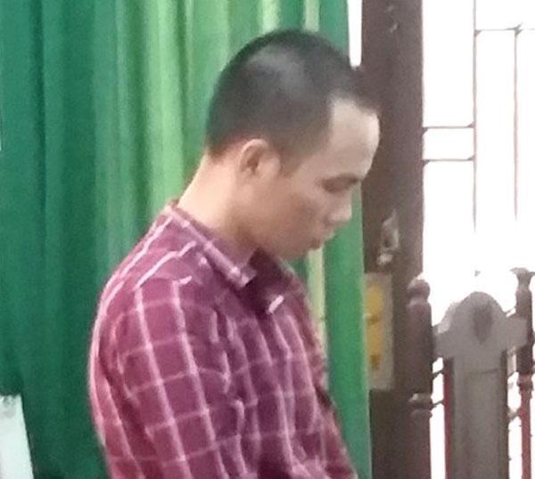 Bị cáo Ngô Hoàng Trí tại phiên tòa.
