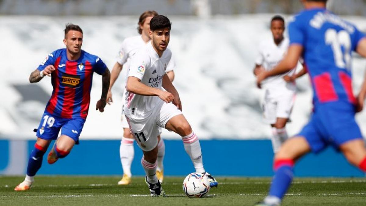 Real Madrid thể hiện sức mạnh vượt trội trước Eibar. Ảnh: Getty