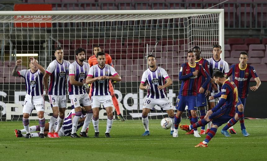 Bàn thắng duy nhất giúp Barca đánh bại Valladolid.