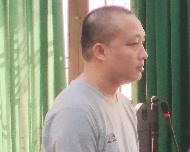 Bị cáo Nguyễn Hữu Vân tại phiên tòa.