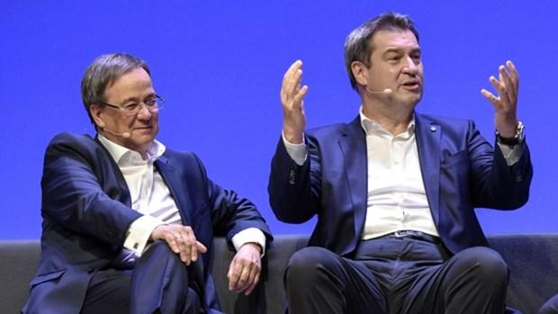 Chủ tịch CDU Armin Laschet (trái) và Chủ tịch CSU Markus Söder. (Nguồn: Imago)