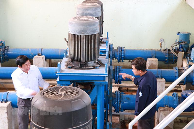 Một trạm bơm nước sạch cung cấp cho khoảng 3 ngàn hộ dân huyện Châu Thành.