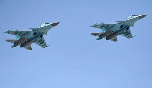 Máy bay ném bom chiến đấu Su-34. (Ảnh: RIA.)