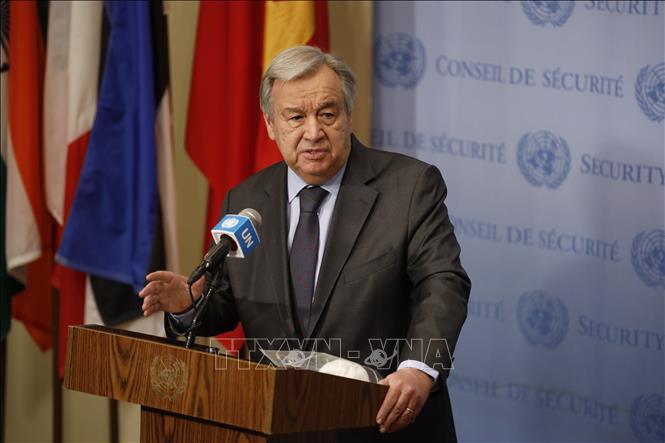 Tổng Thư ký LHQ Antonio Guterres. Ảnh: THX/TTXVN